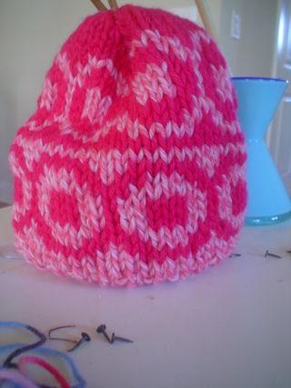 Pink Circle Square hat